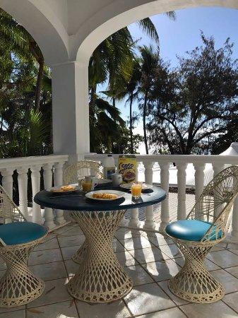 سارايي بوتيك هوتل: our terrace with ocean view