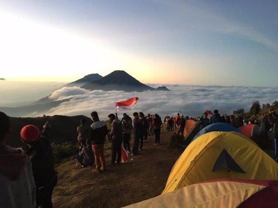 View Gunung Sindoro Dan Sumbing Dari Puncak Gunung Prau Picture Of Prahu Mountain Wonosobo Tripadvisor