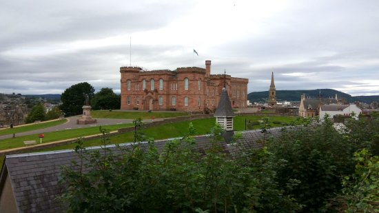 Ardentorrie Guesthouse: View of the Inverness Castle from the Dining area terrace