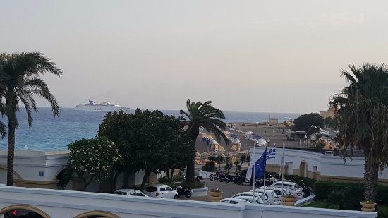 Mitsis Grand Hotel Beach Hotel: A view from Room 265