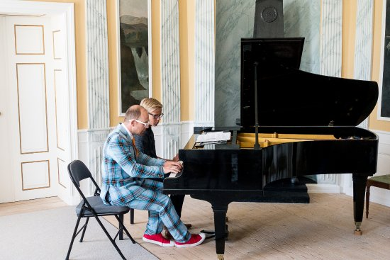 Ulefoss, Norway: Sommerkonsert på Ulefos Hovedgaard.