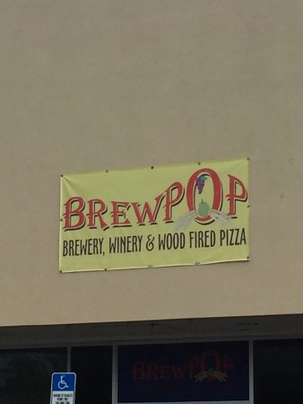 Auburndale, FL: The brewery sign is not easily spotted