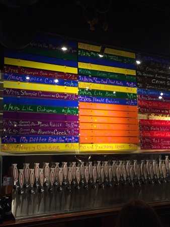 Auburndale, Floride : The extensive color-coded beer list
