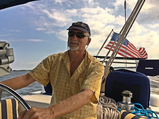 Blue Crab Chesapeake Charters: Dave 2 at the helm