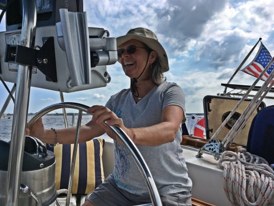Blue Crab Chesapeake Charters: Susan at the helm