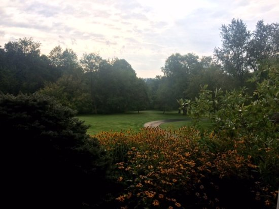 The Welsh Hills Inn: View from the porch