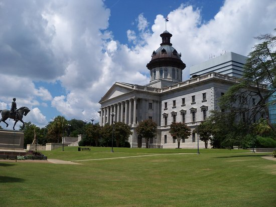 South Carolina State House view from behind
