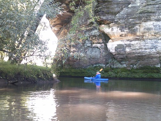 Richland Center, WI: Some of the beautiful rock outcroppings along the river.