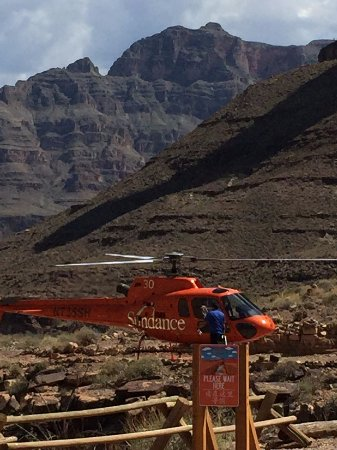 Hualapai River Runners: Helicopters ready to life you out of the Canyon after a fun day!
