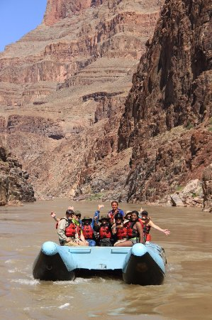 Hualapai River Runners: Picture by the tour company. Our group with Tyler - Thank you!!