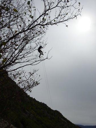 Angoustrine, Francia: Une de nos cinq tyroliennes géantes....waouh!!