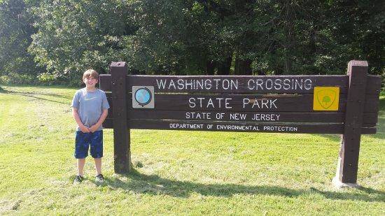 Titusville, Nueva Jersey: Logan visiting George Washington