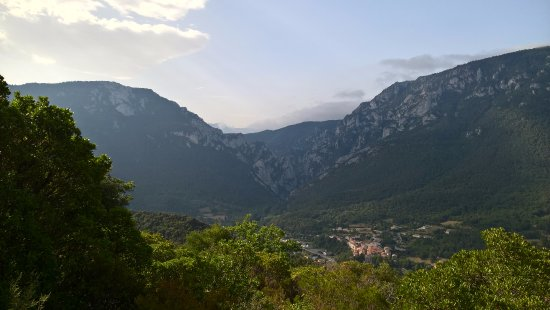View of Quillan area during walk from Le Waystation