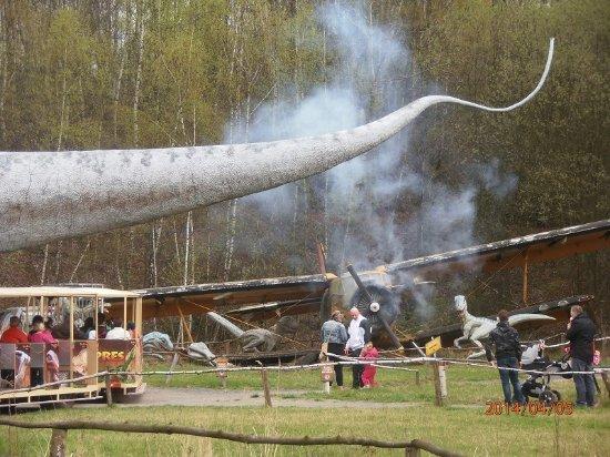 DinoPark Ostrava: havarované letadlo