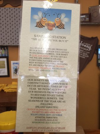 LaBelle, FL: Information about the honey samples