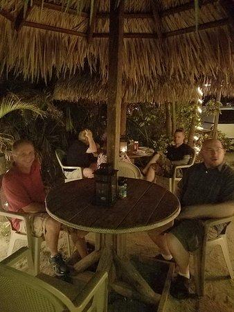 Jensen Beach, FL: Outside table in February