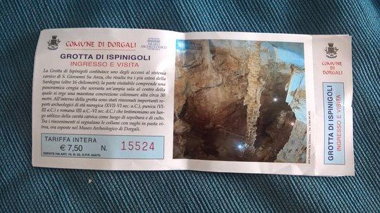 Grotta di Ispinigoli: Biglietto Ingresso
