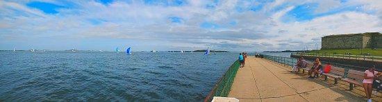 Castle Island: View from Lt. John J. McCorkle Fishing Pier.