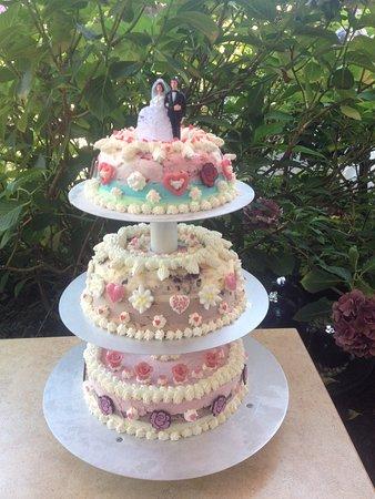 Nortorf, Γερμανία: individuelle 3stöckige Hochzeitstorte