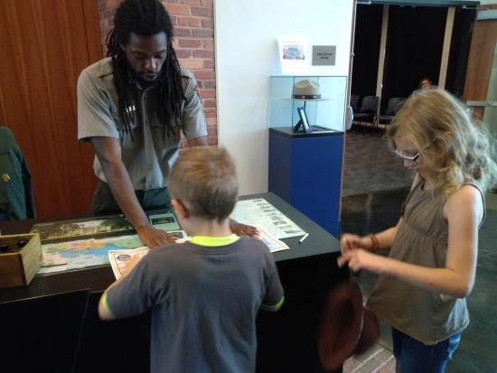 Fort McHenry National Monument: Receiving their Jr. Ranger badges