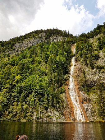 Styria, Østrig: Waterfall from the boat