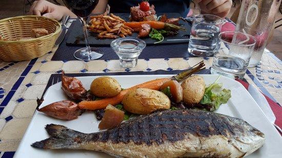 Cadenet, Prancis: poisson de saison et tartare de boeuf