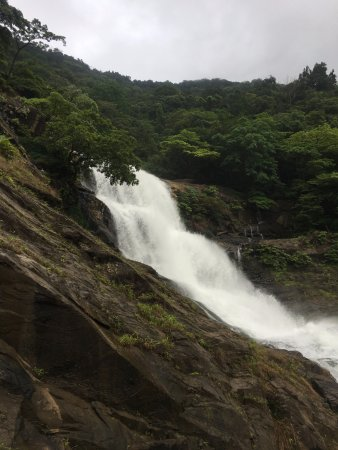 Kundapur, India: View of falls at the end of the trek.