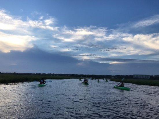 Sunset Beach, Carolina do Norte: Kayaking back to mainland