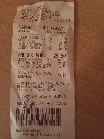 Srednja vas v Bohinju, Slovenien: 2 risotto + apéro 2 personnes