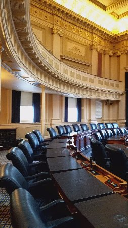 Virginia Capitol Building: Senate room