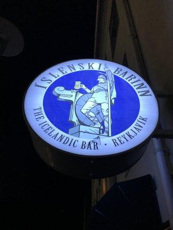 Icelandic Bar (Islenski Barinn) : the sign to look for