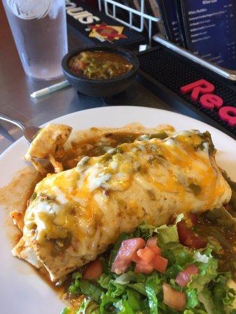 Breakfast Burrito Smothered In Green Chile Picture Of Cocina Azul Albuquerque Tripadvisor