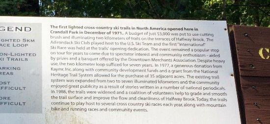 Glens Falls, NY: history of the trails