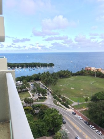Sonesta Coconut Grove Miami: View from balcony on 17th floor, bayview room