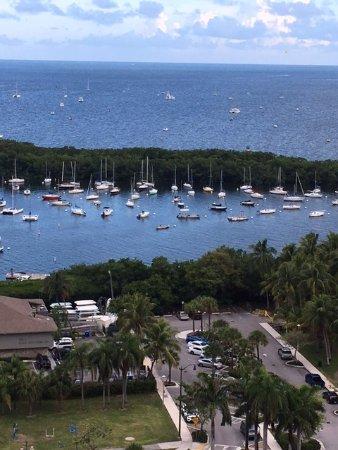 Sonesta Coconut Grove Miami: Beautiful marina/bay view from balcony on 17th floor