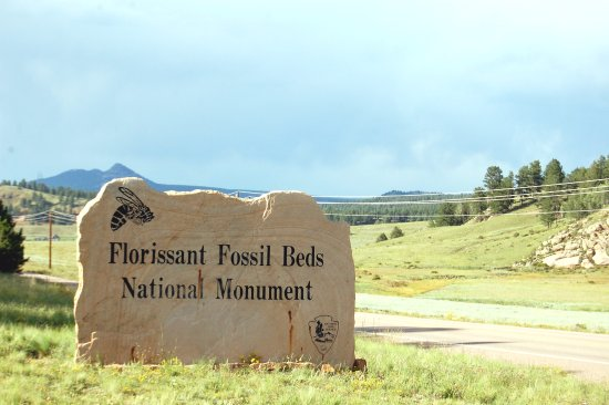 Florissant, CO: Park Entrance Sign