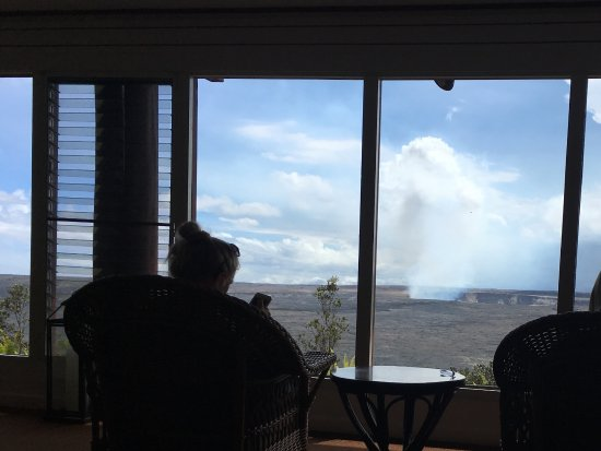 Volcano House: View from inside lounge area-amazing!