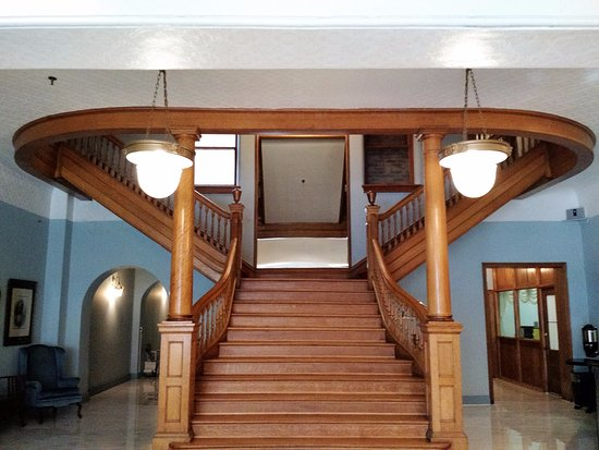 Frostburg, MD: The staircase in the entrance.