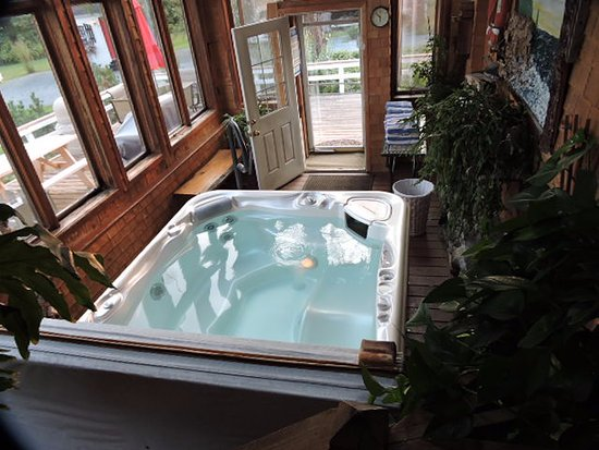 Trenton, ME: Relax in our hot tub after a day of hiking