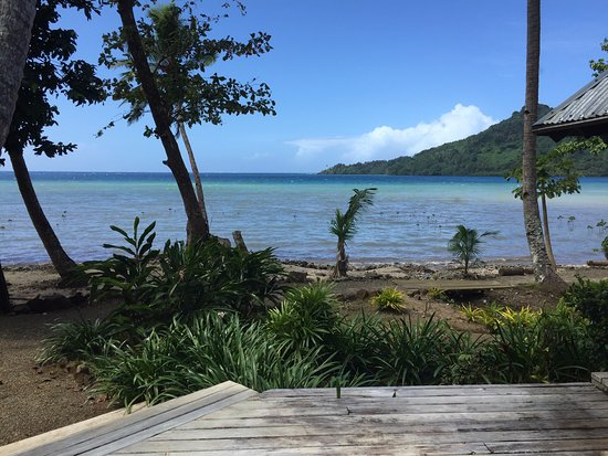 Beqa Island, Fiji: View from the front deck