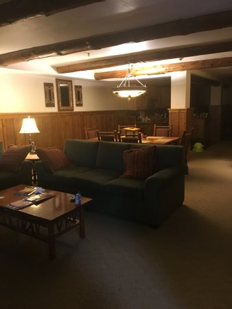 The Whiteface Lodge: living area of Grand Lodge Suite (Marcy)