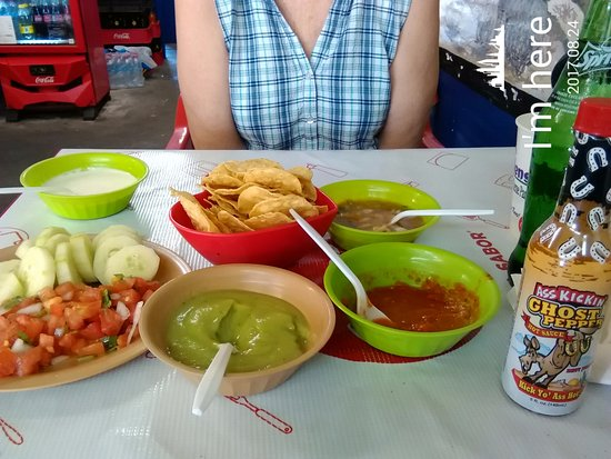 Los Algodones, Mexico: Jose, hope you tried out the Ghost Pepper Sauce mi amigo. Lol.