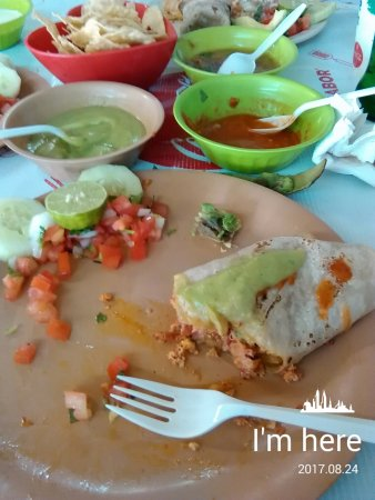 Los Algodones, Meksiko: Great Carne Asada burrito. Never had a bad meal at this place and if I had, Jose would take care