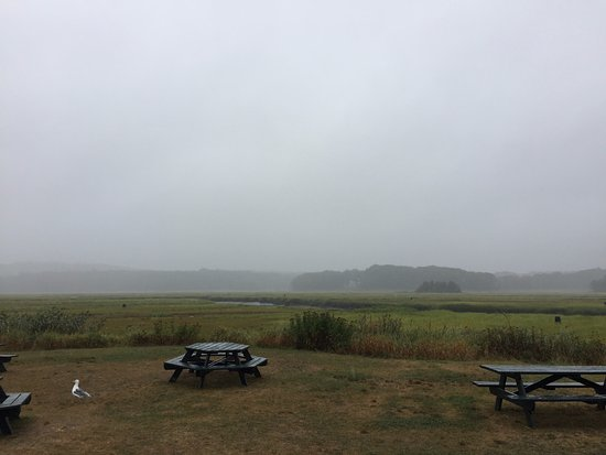 Essex, MA: seating by the marsh