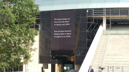 Canadian Museum For Human Rights: Quote On Exterior Of Building