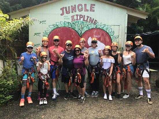Haiku, HI: 2017.08.23-27.Mahalo for your visit! #junglezip #junglezipline