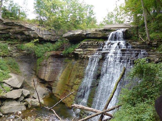 Brecksville, Огайо: Brandywine Falls wide view