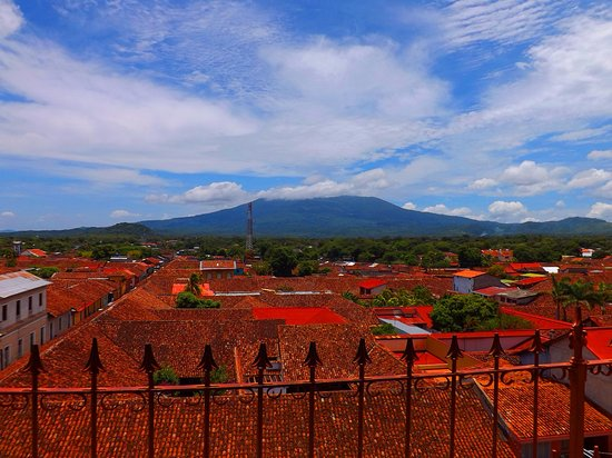 Granada Department, Nicaragua: Mombacho volcano view from Merced Tower