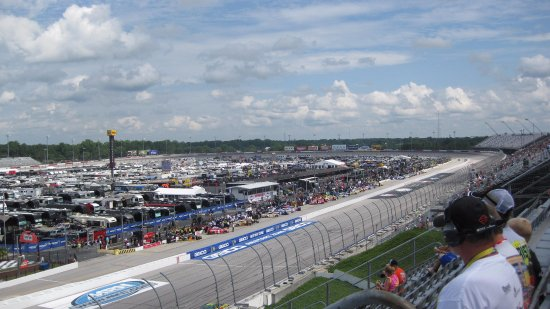 Darlington, Carolina del Sur: Front Stretch from Pearson Tower