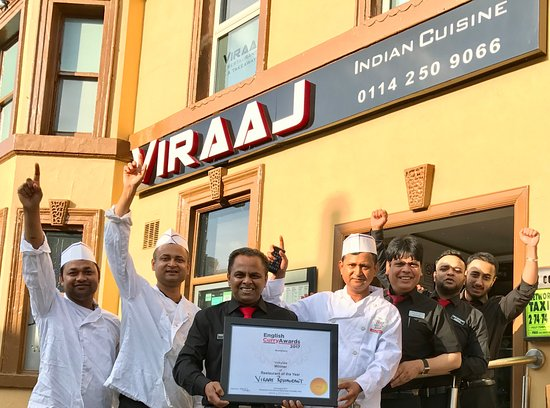 Viraaj Restaurant : Viraaj Team celebrating award win